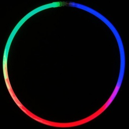 "22"" Glow Necklace Tri-Color - Red, Blue & Green"