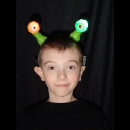 Alien Eyes LED Light Up Headbands