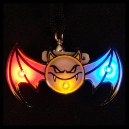 Bat Flashing LED Pin / Necklace