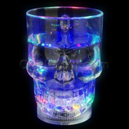 Liquid Activated Flashing Skull Cup