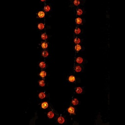 Flashing LED Pumpkin Necklace