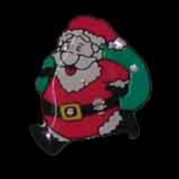 LED Flashing Santa Pin
