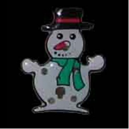 LED Flashing Snowman Pin