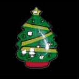 LED Flashing Christmas Tree Pin