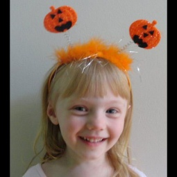 Halloween Pumpkin Boppers Headband