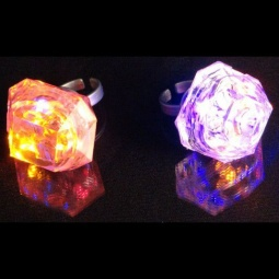 Jumbo Diamond LED Light Up Rings