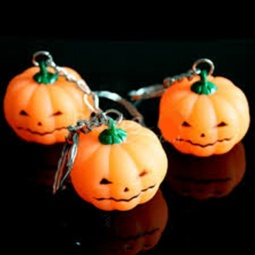 Flashing Pumpkin Keychain