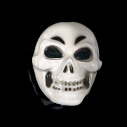 Reaper Scary Plastic Mask with Black Fabric Headcover