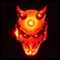 Red Devil Flashing LED Pin / Necklace