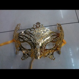 Gold Winged Cutout Mardi Gras Mask