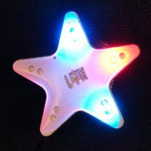 Flashing LED Stars Pin
