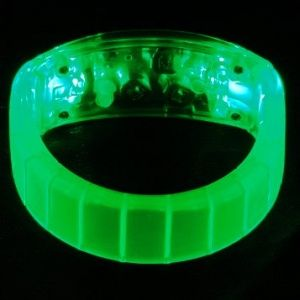 LED Light Up Bangle Bracelets Green