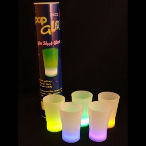 Glow Shot Glasses with packaging